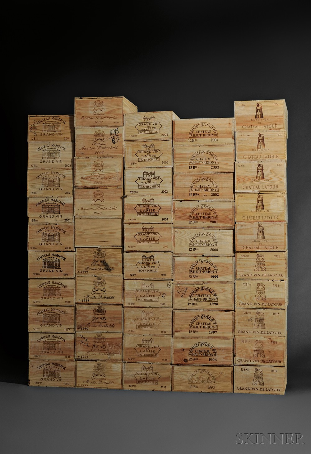 Sold for: $320,000 - Ten Year Superlot First Growth Bordeaux 1995-2004