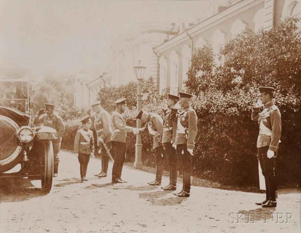 Gelatin Silver Print of Tsar Nicholas II and Tsarevich Alexei Nikolaevich