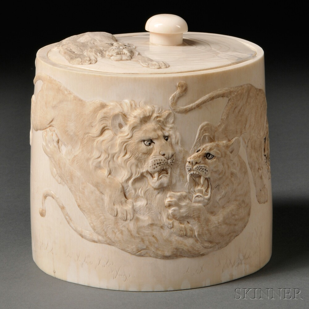 Ivory Covered Vessel