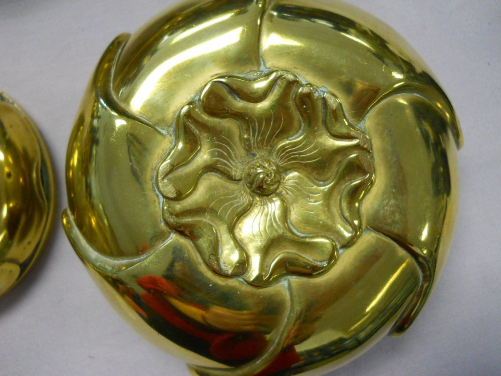Three Polished Bronze Censers
