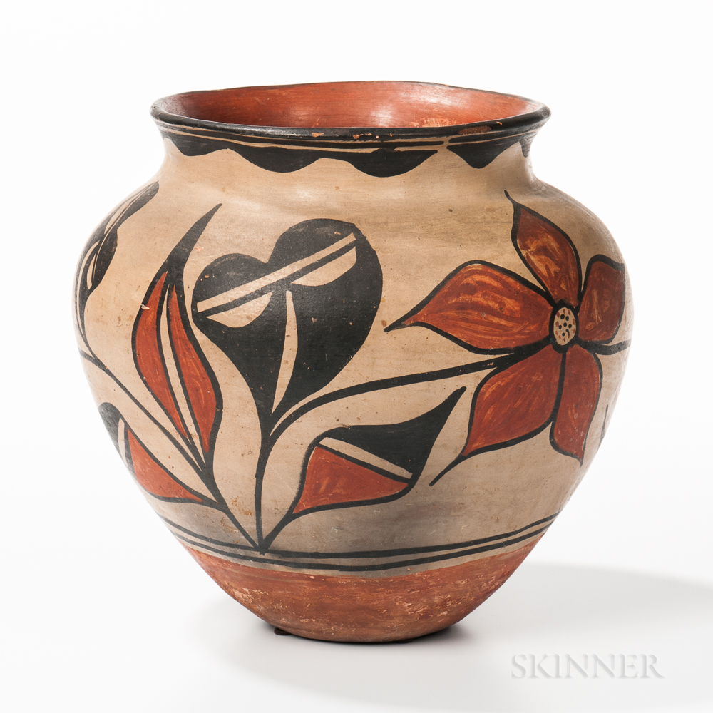 Santa Domingo Polychrome Pottery Jar