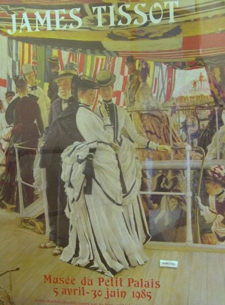 Five Large Framed Painting Exhibition and Museum Posters