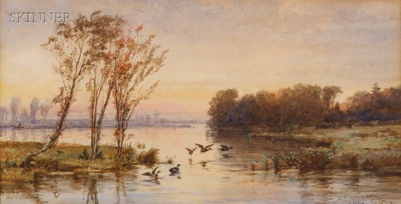 Jasper Francis Cropsey (American, 1823-1900)      On the Lake