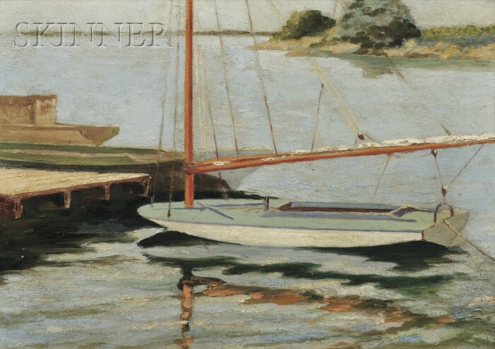 American School, 20th Century      View of a Catboat, Possibly Provincetown