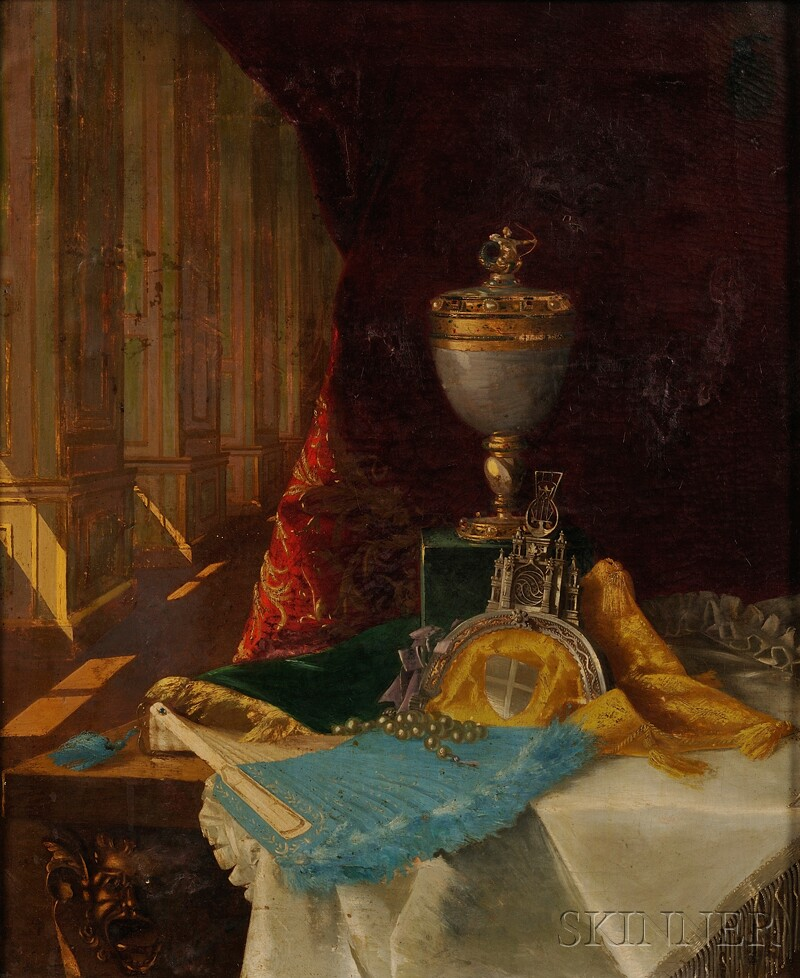 Continental School, 19th Century      Still Life with Articles of Vertu