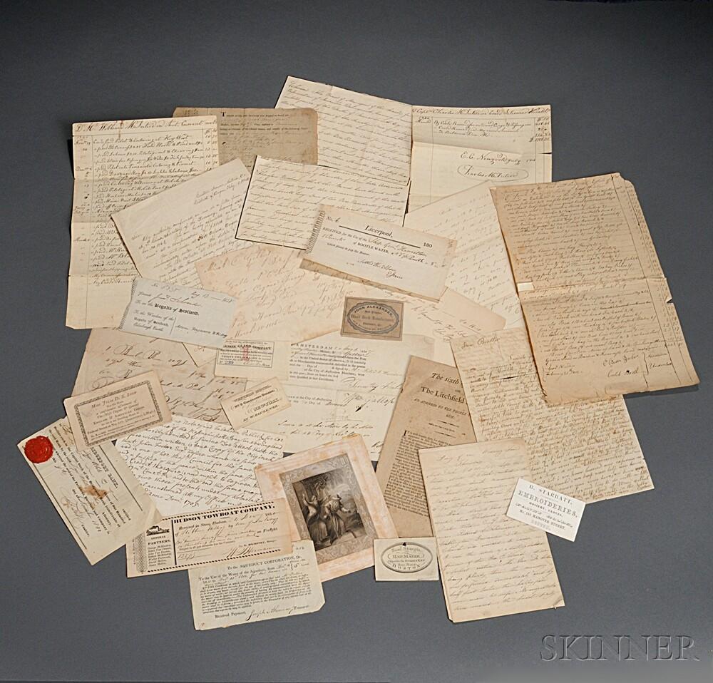 Letters, Documents, Printed Ephemera, 18th-19th Century.