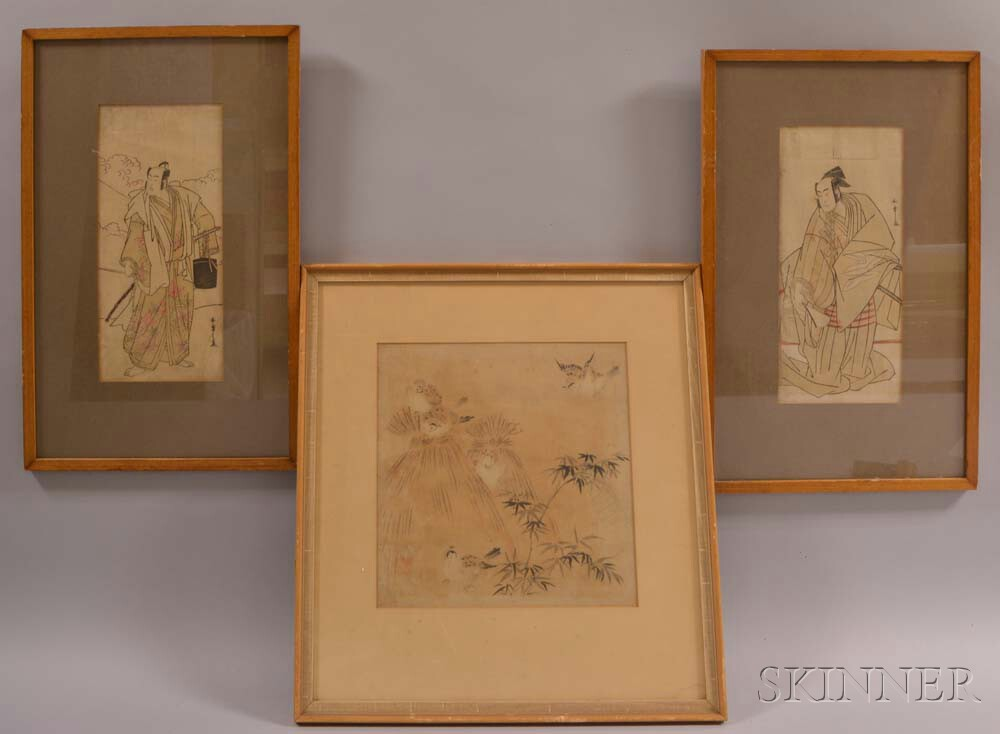 Three Framed Prints and a Painting