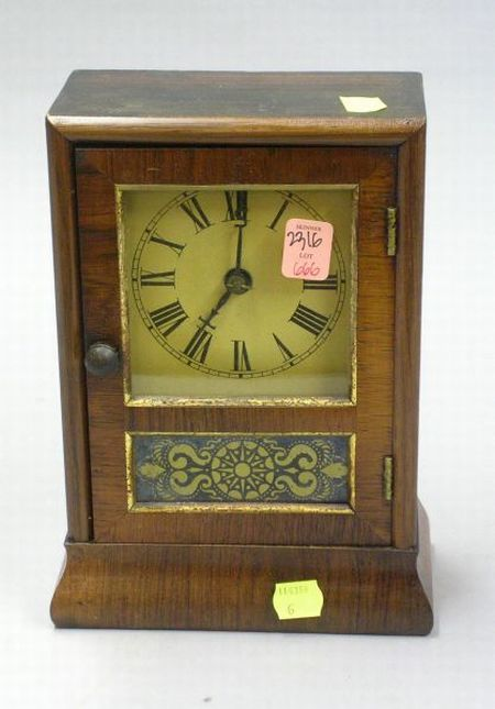 Miniature Seth Thomas Rosewood Veneered Cottage Clock