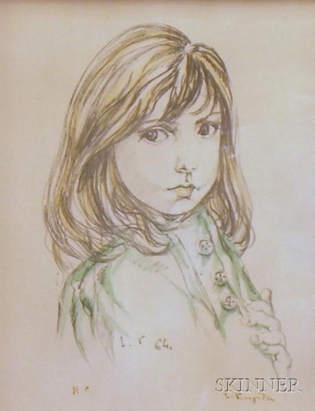 Tsuguharu Leonard Foujita (Japanese, 1886-1968)      Petite Fille