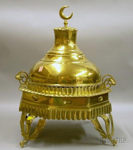Turkish Brass Footed Brazier.