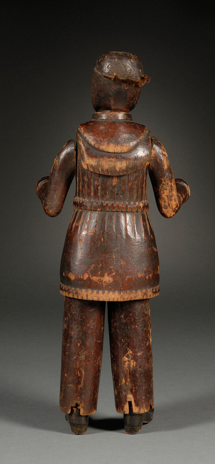 Carved Yellow Poplar Figure of a Frontier Jesuit Priest