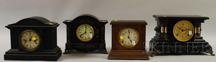 Four Connecticut Mantel Clocks