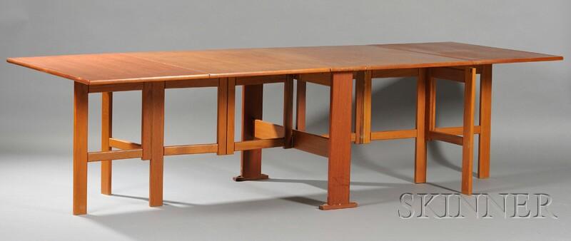 Danish Modern Tuck-away Dining Table