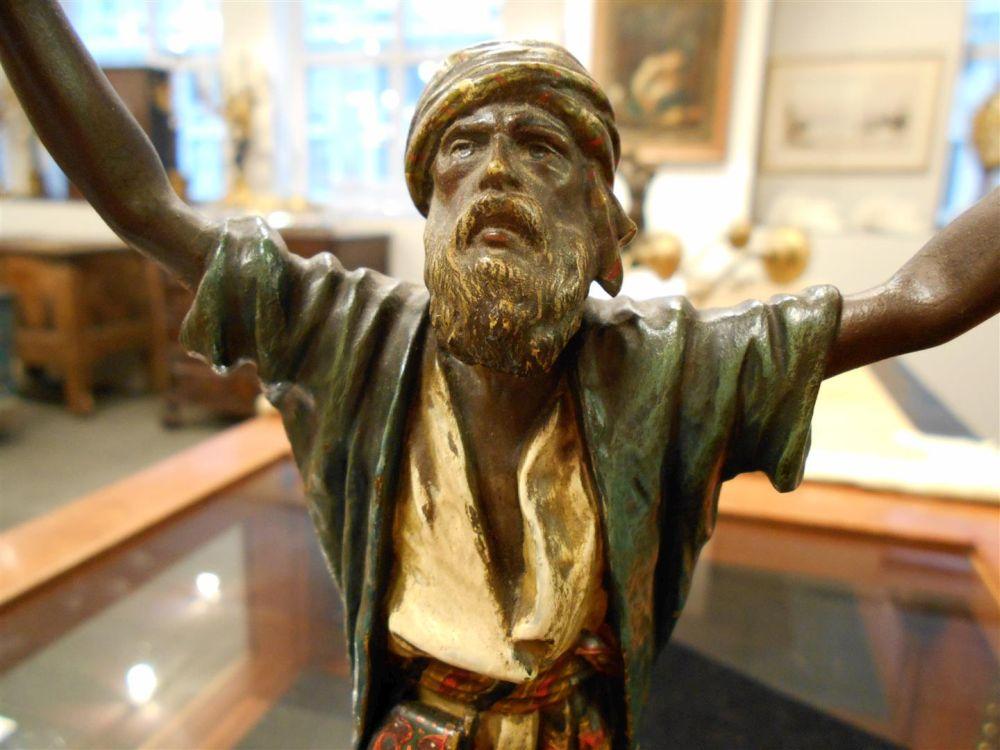 Franz Bergmann Cold-painted Bronze Figure of a Praying Man
