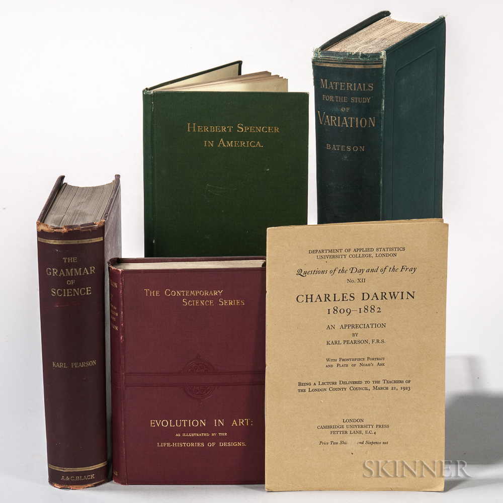 Darwin, Charles (1809-1882) Lot of Five Related Titles.