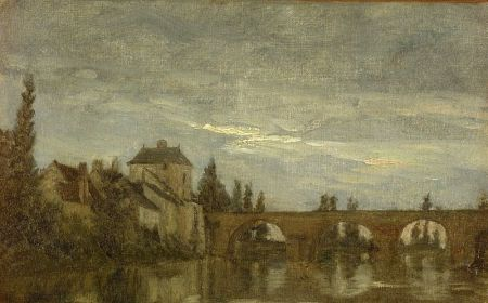 Attributed to Stanislas Lepine (French, 1835-1892)    Pont de Moudo