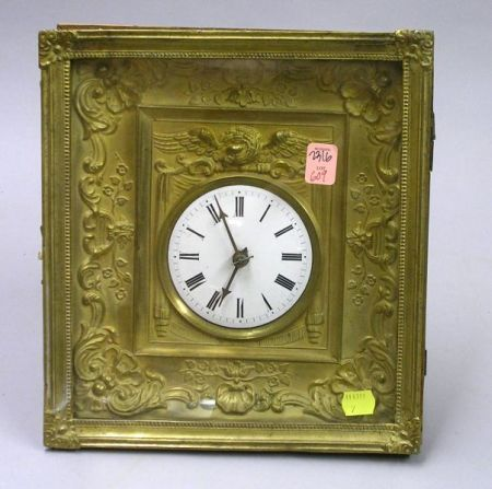 Black Forest Gilt-metal Picture Frame Wall Clock