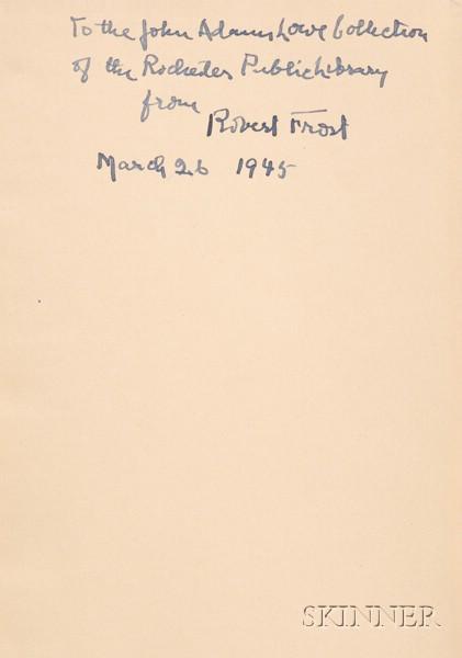 Frost, Robert (1874-1963), Presentation Copy