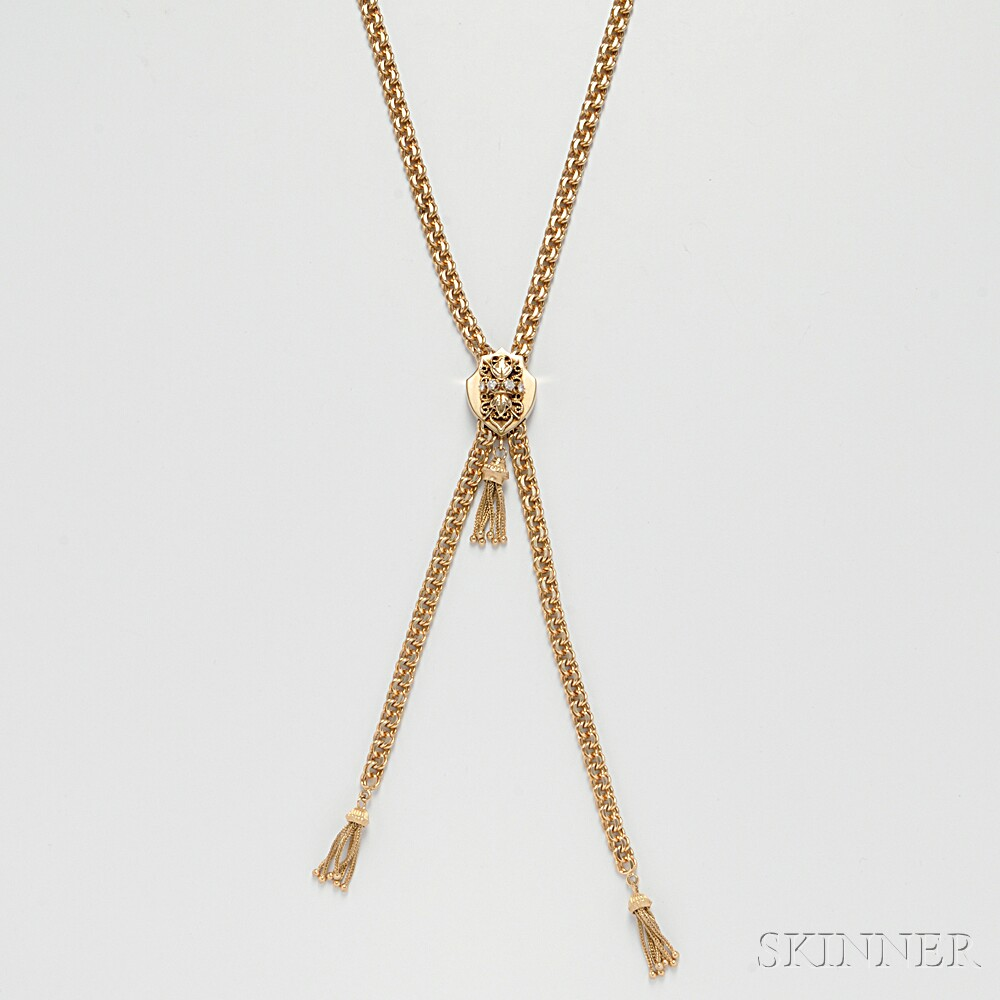14kt Gold Slide Necklace