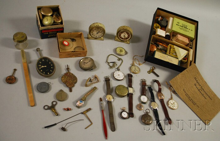 Group of Watches, Parts, and Components