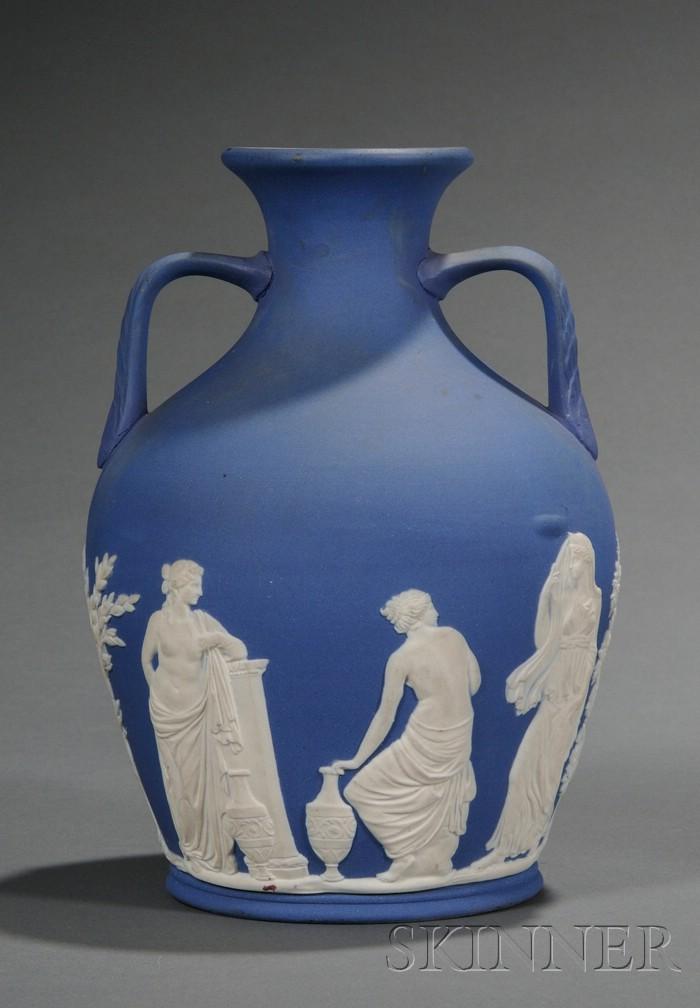 Wedgwood & Co. Dark Blue Jasper Dip Portland-type Vase