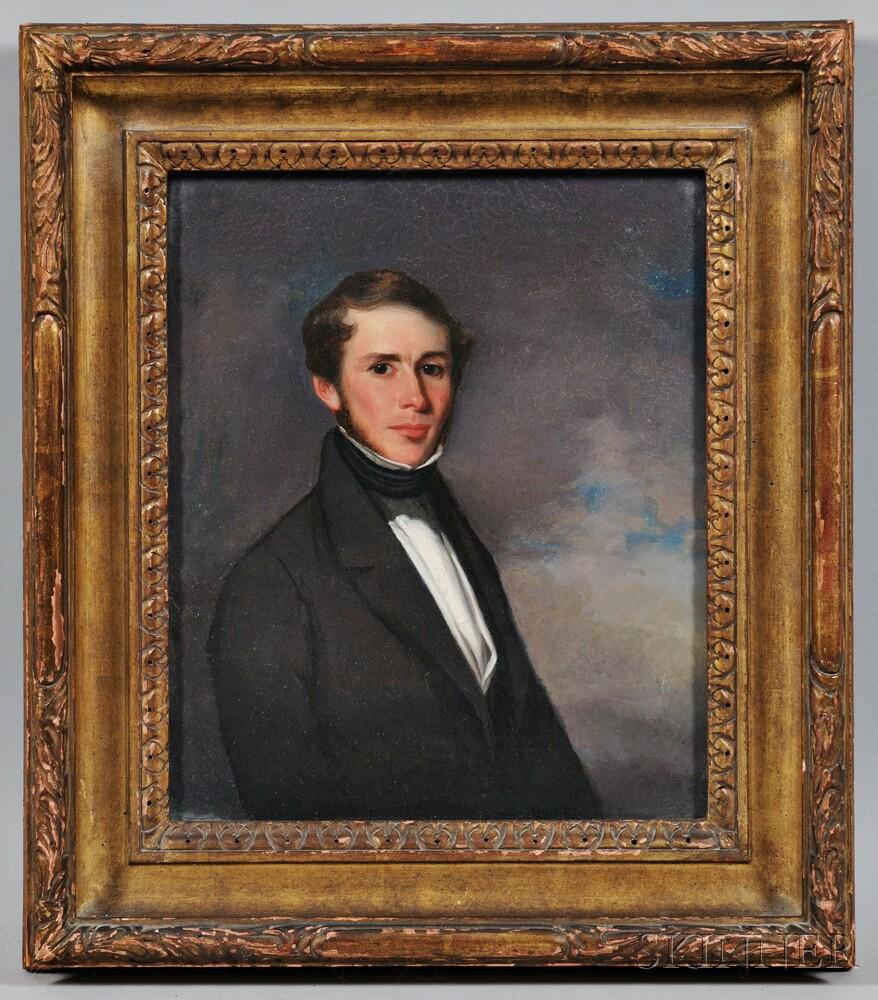 American School, 19th Century      Portrait of Captain George Leslie