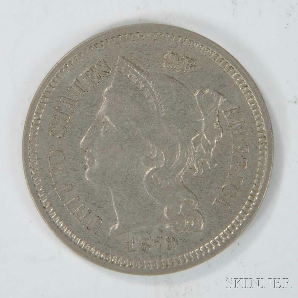 1879 Three Cent Nickel Trime