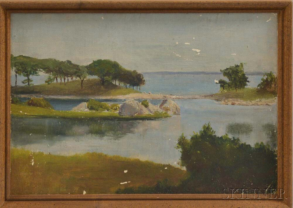 Attributed to Edward Forbes (American, 19th/20th Century)       Fisherman's Island.