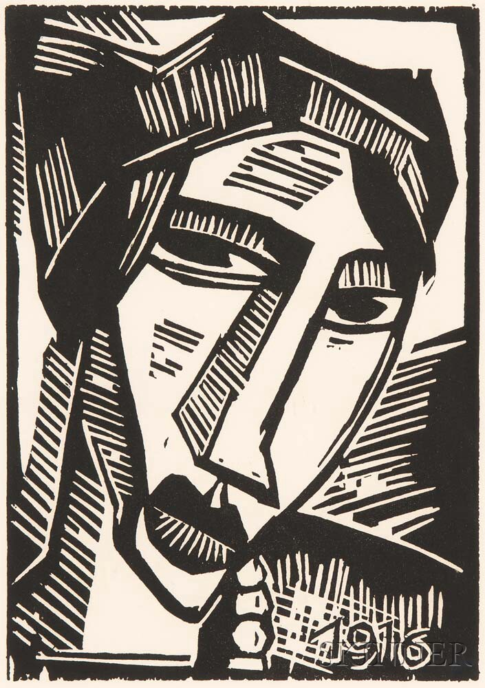 Karl Schmidt-Rottluff (German, 1884-1976)      Frauenkopf