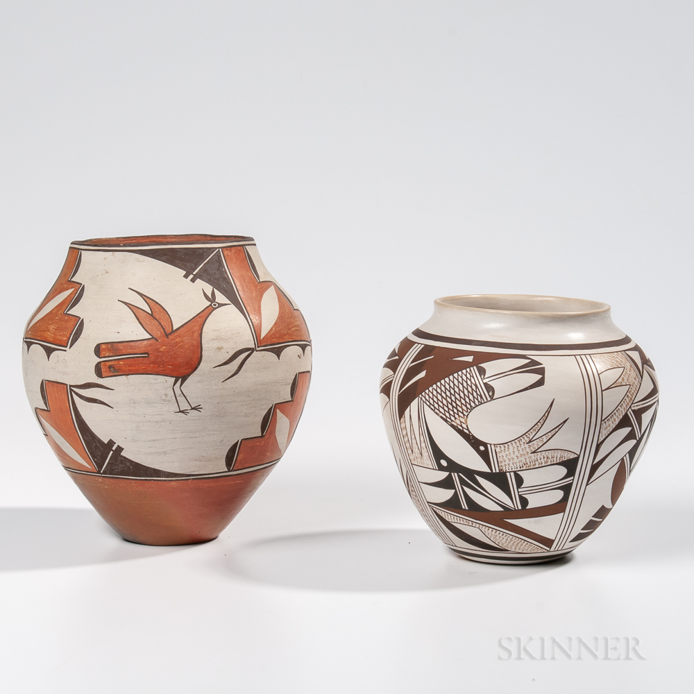 Two Southwest Polychrome Pottery Jars