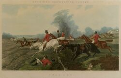 After John Frederick Herring, Senior (British, 1795-1865)  Lot of Two Plates from HERRING'S FOX-HUNTING SCENES:  Full Cry