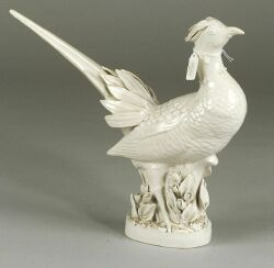 Blanc de Chine Porcelain Figure of a Pheasant