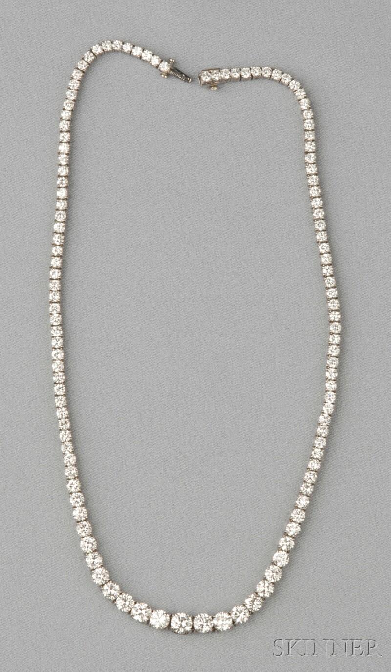 Platinum and Diamond Necklace, Cartier