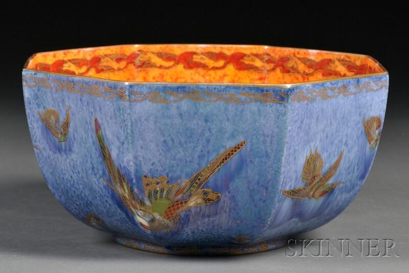 Wedgwood Octagonal Hummingbird Lustre Bowl