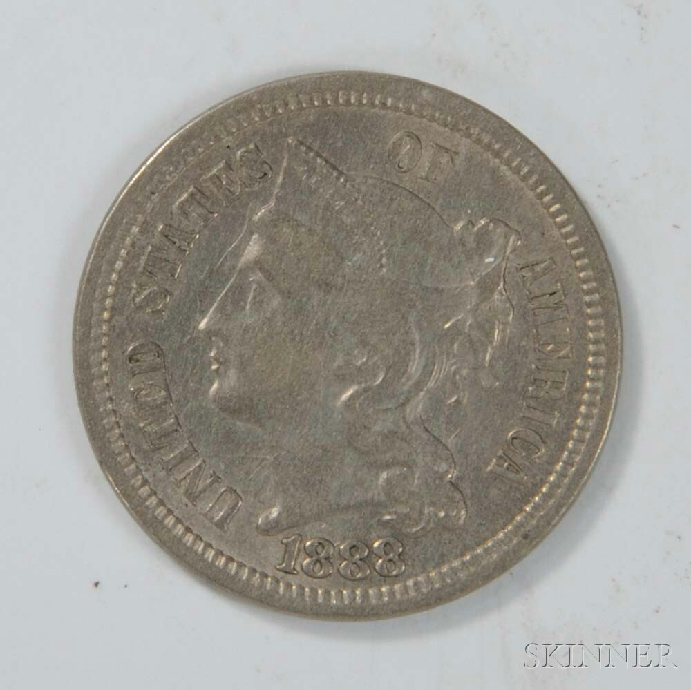 1888 Three Cent Nickel Trime