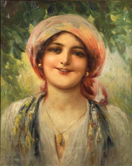 Attributed to Giovanni Battista (Italian, 1860-1925)    The Gypsy Beauty.