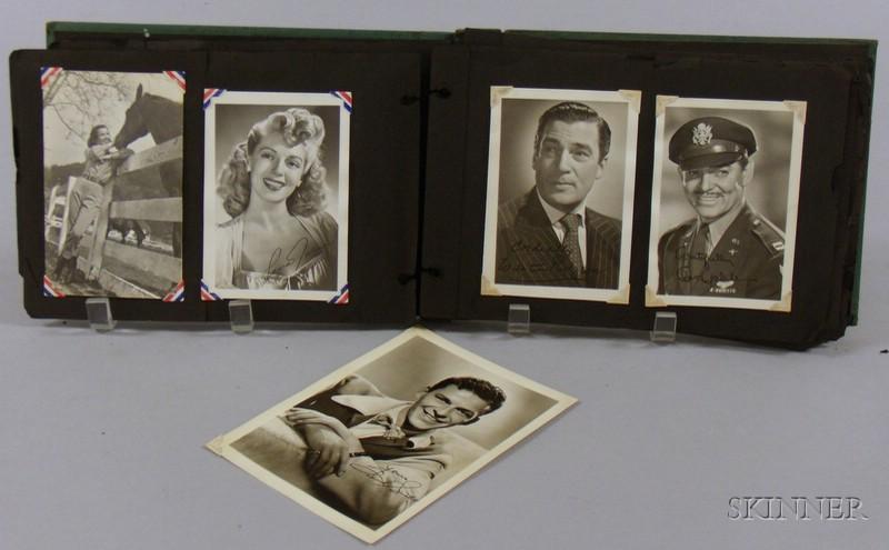 Album of Approximately Seventy-six 1940s Era Hollywood A-list Movie Star   Photographs
