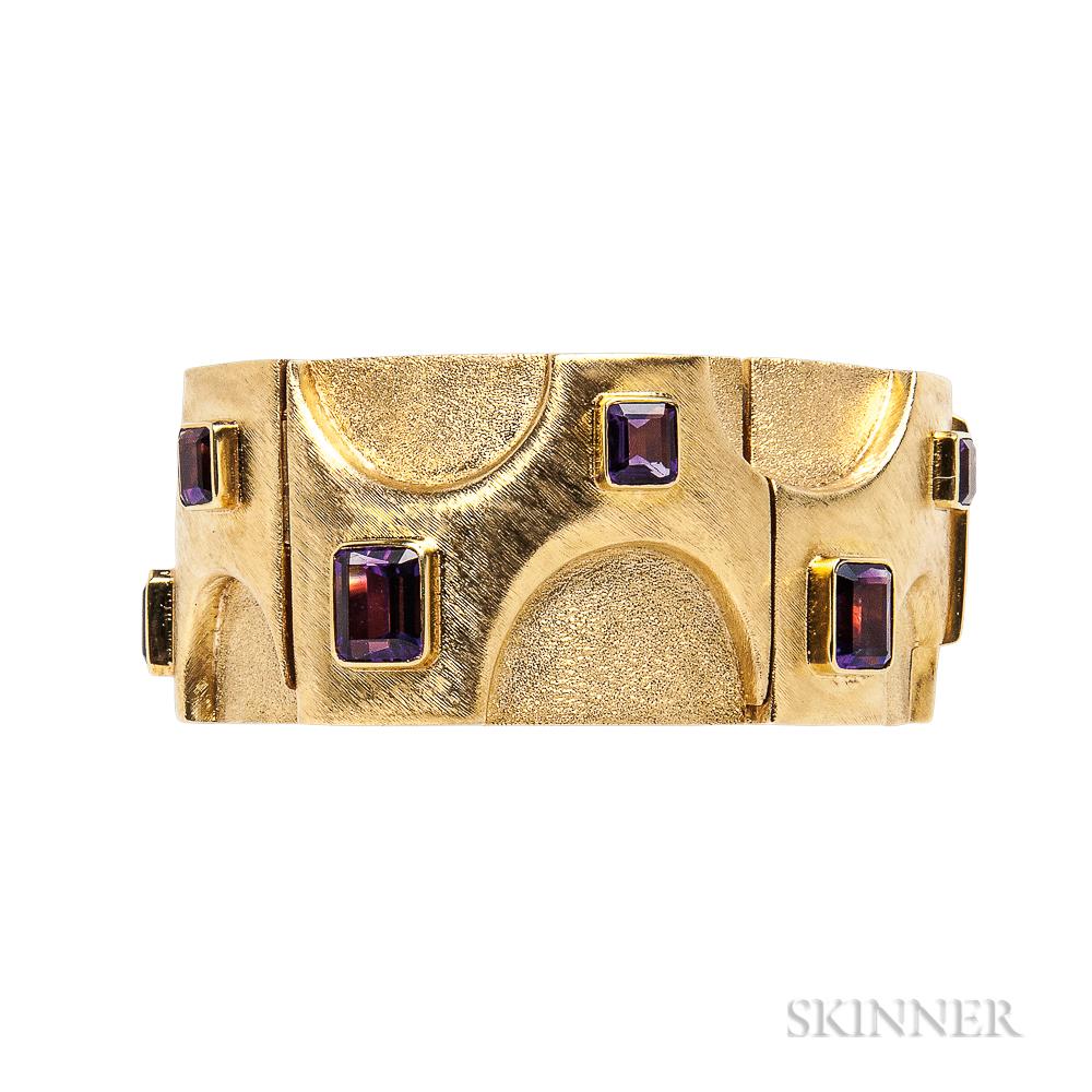 18kt Gold and Amethyst Bracelet, Burle Marx
