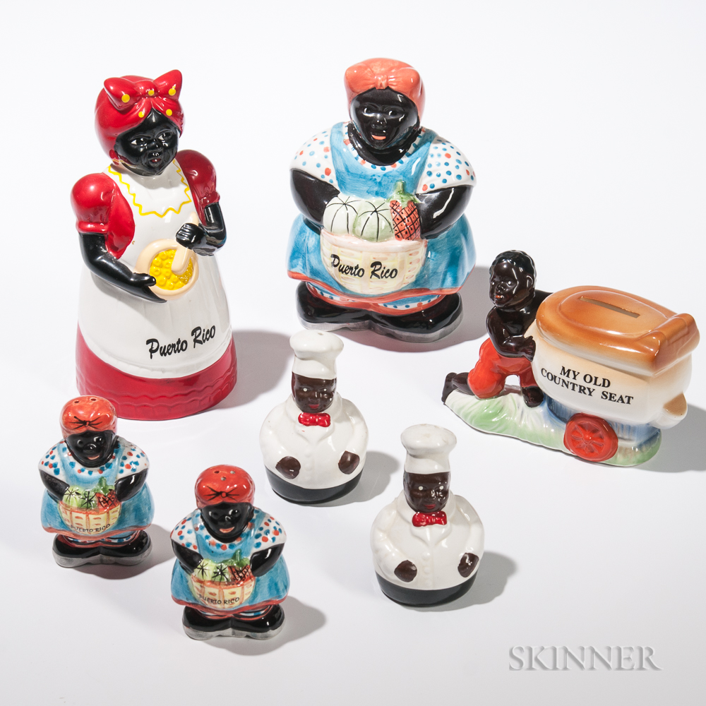 Seven Ceramic Banks and Salt and Pepper Shakers