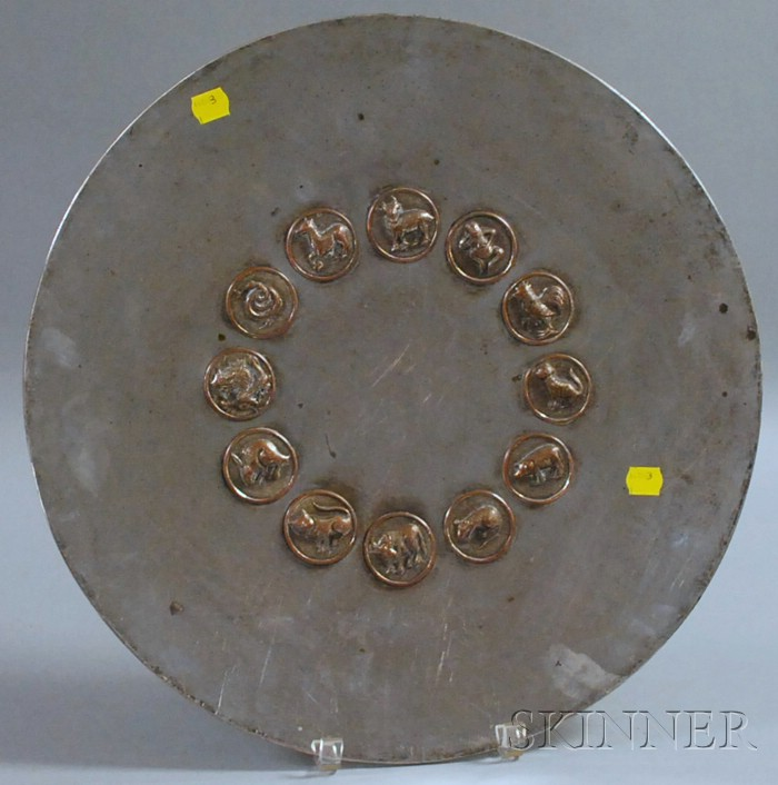 Asian-style Silver-plated Tray