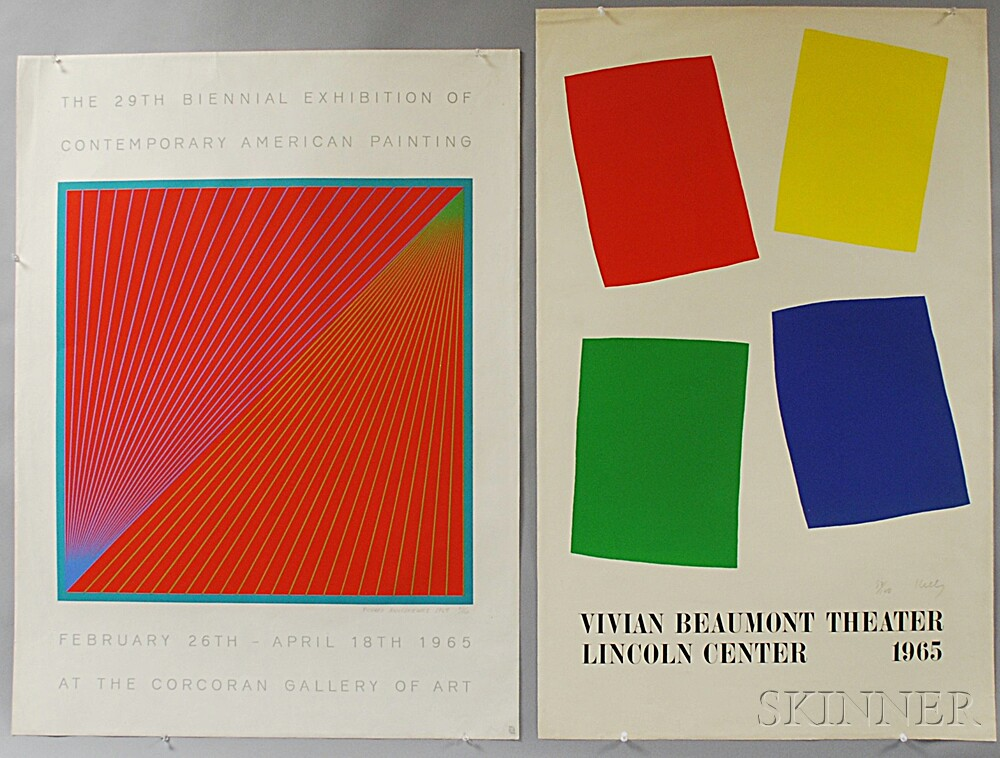 Three Limited Edition Posters: Featuring work by Richard Anuszkiewicz, Ellsworth Kelly, and Charles Hinman: The 29th Biennial Exhibitio