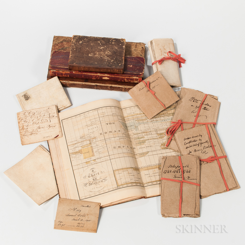 Atlas, Three Ledgers, Four Indentures, and a Group of Wrappers