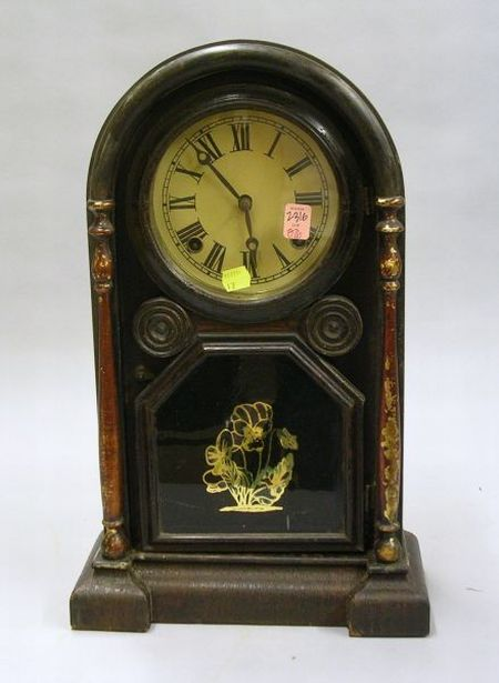 E. N. Welch Rosewood Veneered Shelf Clock
