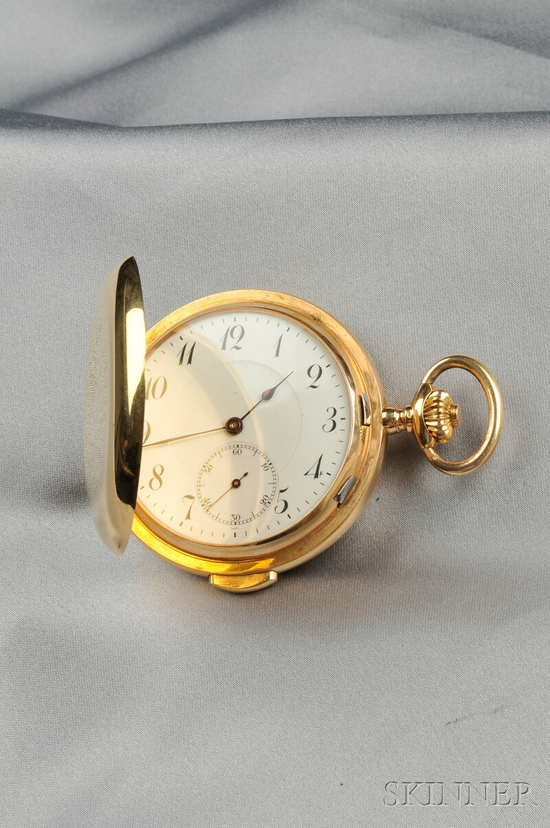 18kt Gold Hunting Case Quarter-repeating Pocket Watch