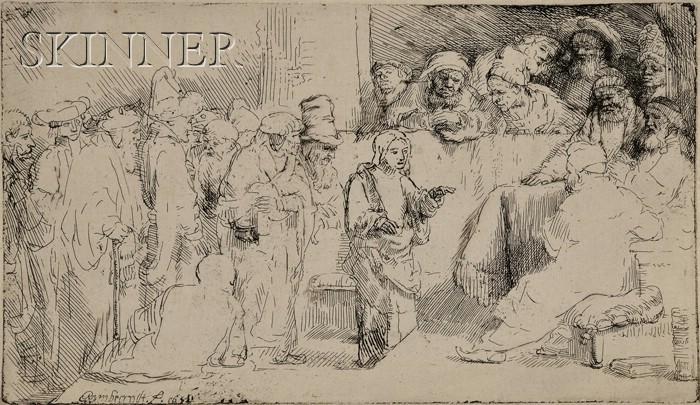 Rembrandt van Rijn (Dutch, 1606-1669)      Christ Disputing with the Doctors:  A Sketch