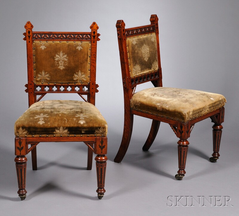 Pair of Modern Gothic Chairs