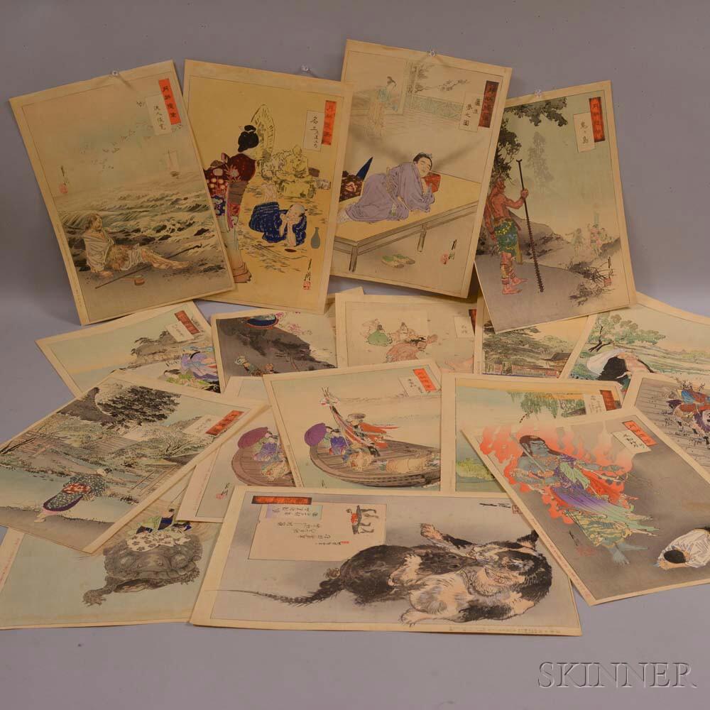 Thirty-nine Woodblock Prints