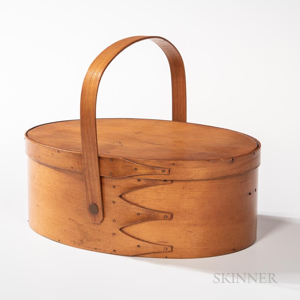 Shaker Oval Swing-handled Four-finger Lidded Carrier