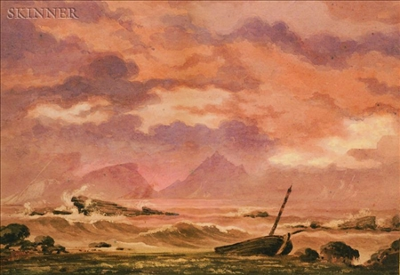 Manner of Joseph Mallord William Turner (British, 1775-1851)    Sunset in a Storm