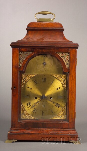 George III Mahogany Bracket Clock